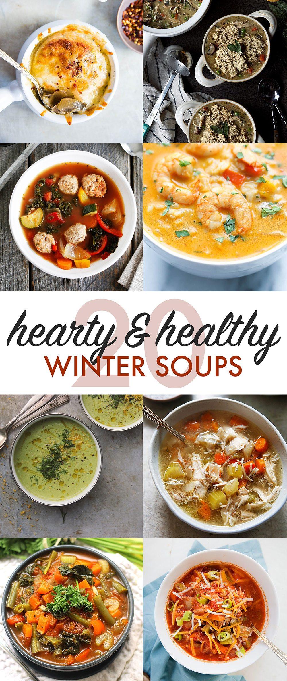 Healthy Winter Soups  healthy winter soups