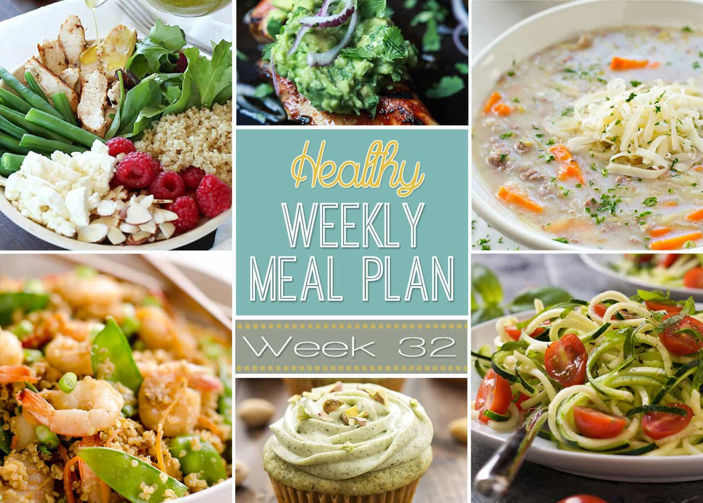 Healthy Yummy Dinners  Healthy Weekly Meal Plan 32 Yummy Healthy Easy