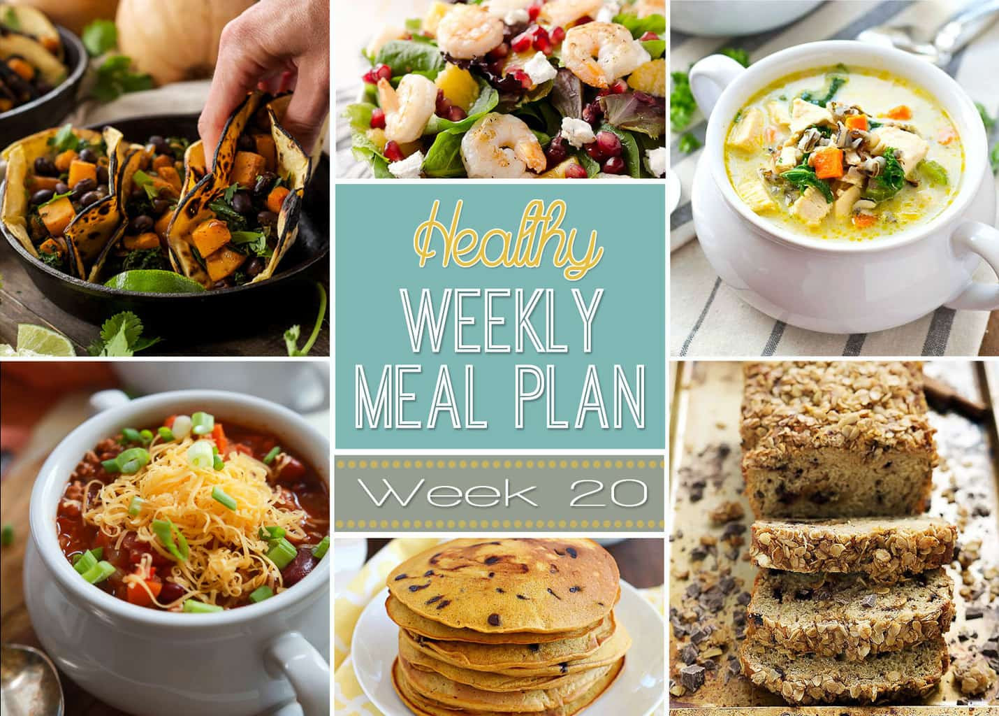 Healthy Yummy Dinners  Healthy Weekly Meal Plan 20 Yummy Healthy Easy