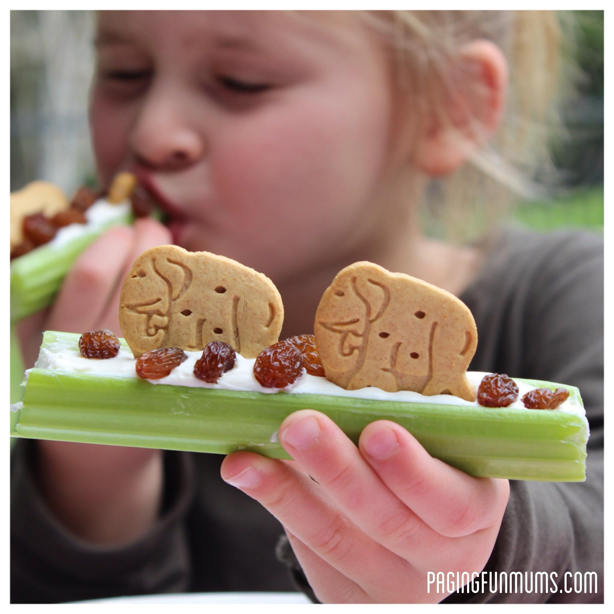 Healthy Yummy Snacks  Healthy & FUN After School Snack Celery Animal Snacks