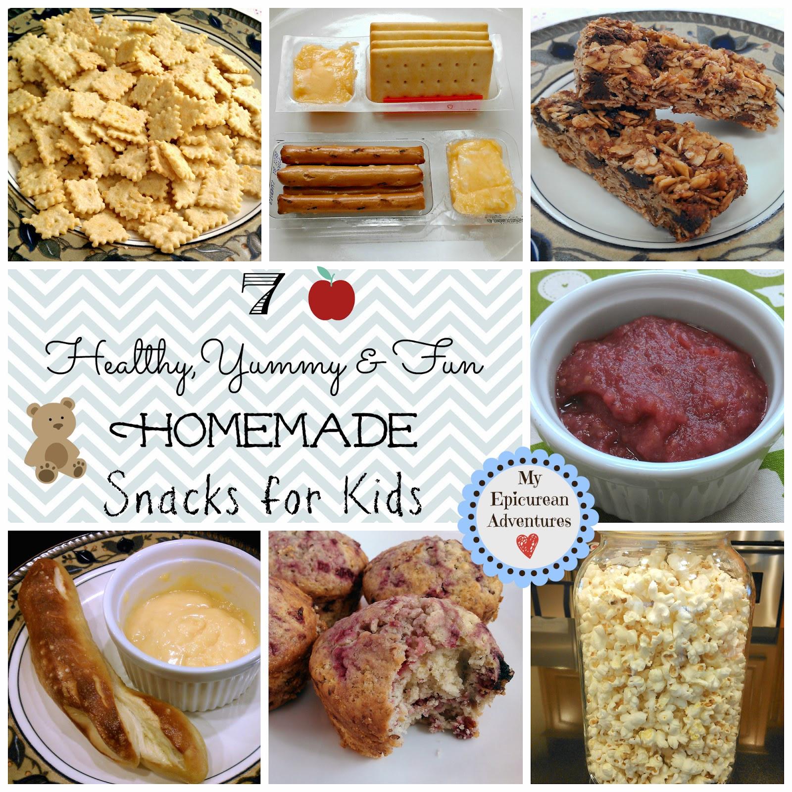 Healthy Yummy Snacks  7 Healthy Yummy and Fun Homemade Snacks for Kids My
