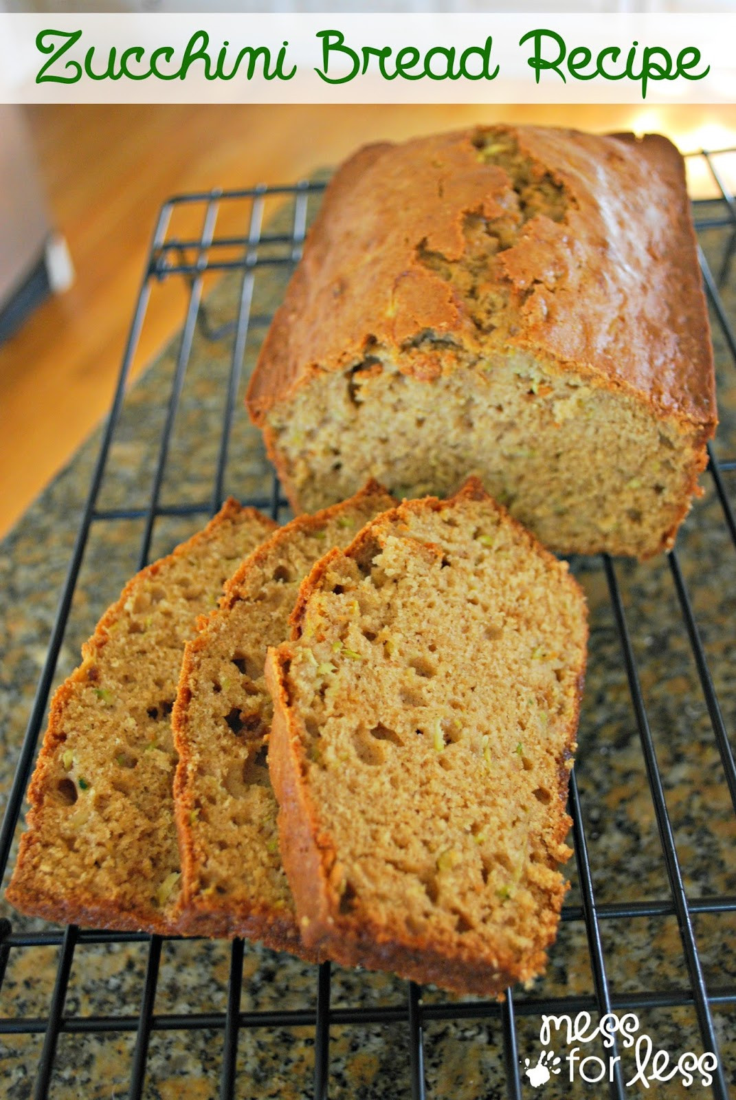 Healthy Zucchini Bread  Treat Yourself to a Savory Bread Recipe and a few Sweet