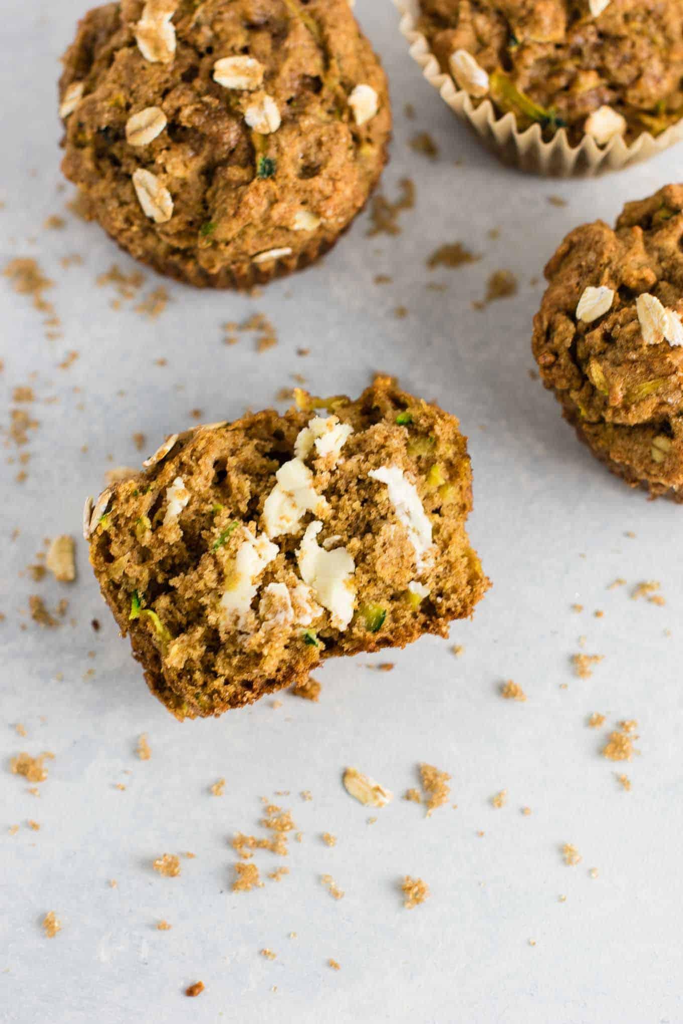 Healthy Zucchini Bread Muffins  Healthy Zucchini Bread Muffins with brown sugar