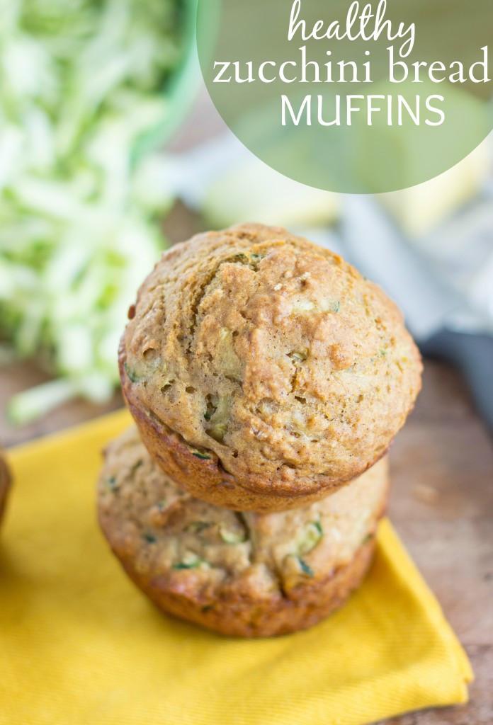 Healthy Zucchini Bread Muffins  Healthy Zucchini Bread Muffins Chelsea s Messy Apron