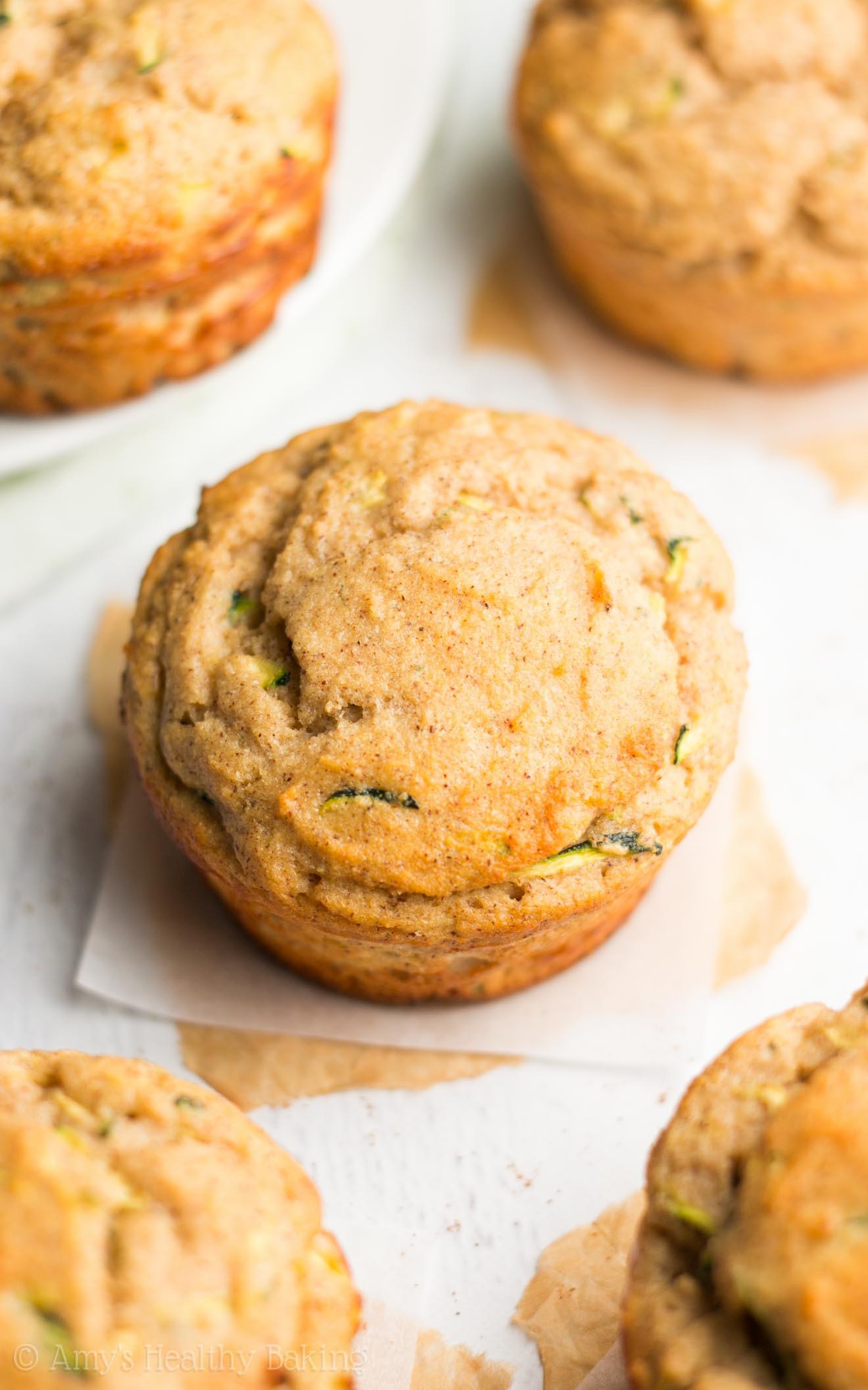 Healthy Zucchini Bread Muffins  Zucchini Bread Protein Muffins