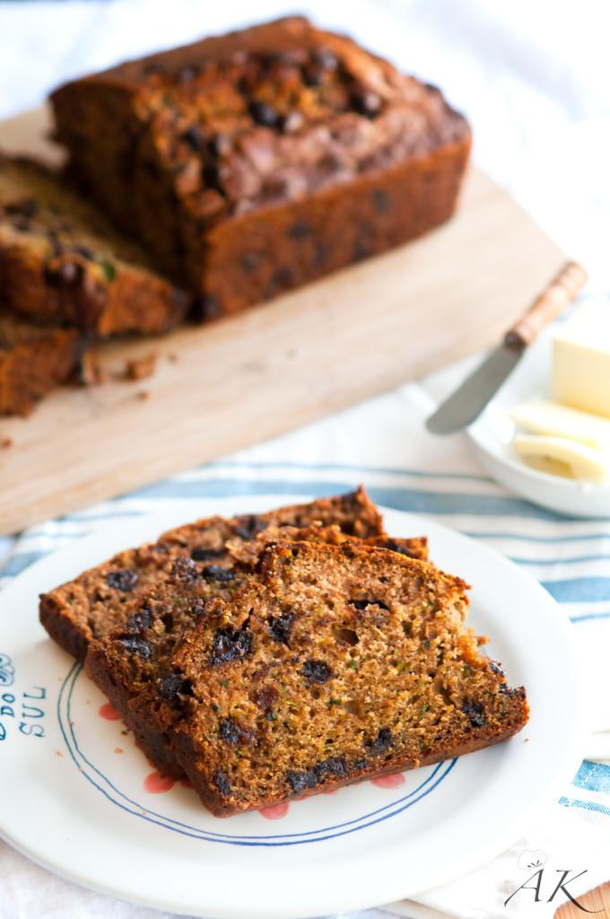 Healthy Zucchini Bread Recipe Applesauce  Zucchini Applesauce Bread Aberdeen s Kitchen