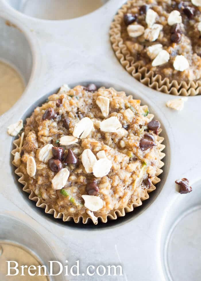Healthy Zucchini Bread Recipe Applesauce  healthy banana oatmeal muffins with applesauce