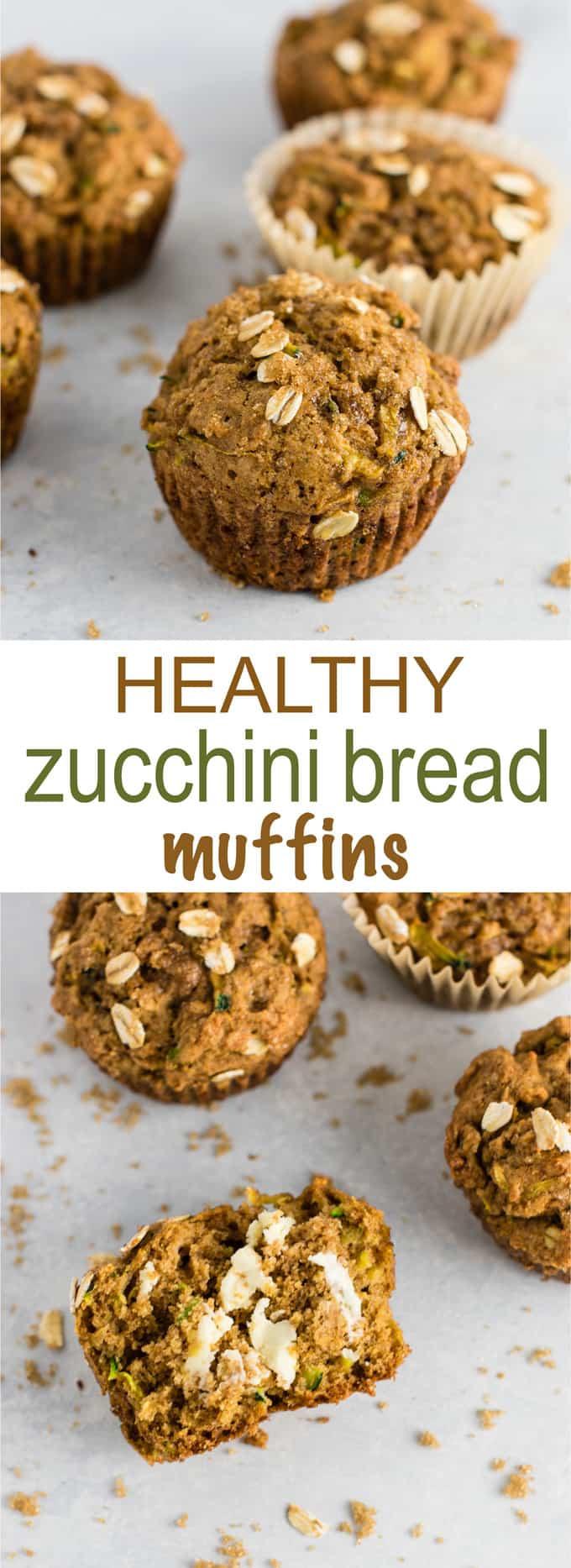 Healthy Zucchini Bread Recipe Applesauce  Healthy Zucchini Bread Muffins with brown sugar