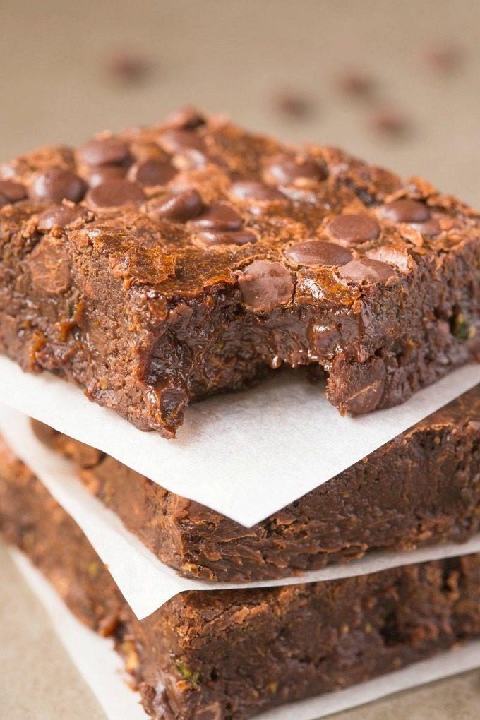 Healthy Zucchini Brownies  Healthy Flourless Zucchini Fudge Brownies