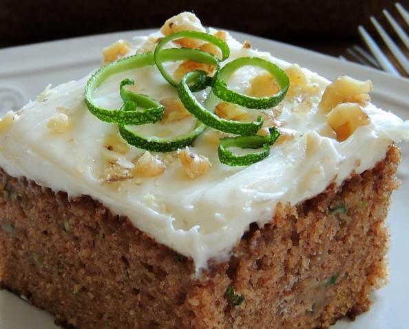 Healthy Zucchini Cake  Healthy Zucchini Cake with Cream Cheese Frosting