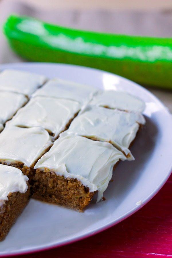 Healthy Zucchini Cake  Moist Zucchini Cake With Greek Yogurt Frosting