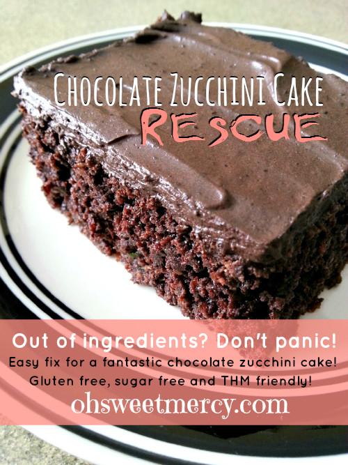 Healthy Zucchini Chocolate Cake  Chocolate Zucchini Cake Rescue Oh Sweet Mercy