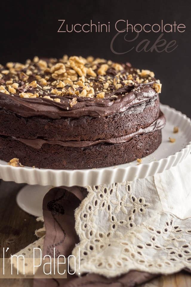 Healthy Zucchini Chocolate Cake  Paleo Zucchini Chocolate Cake
