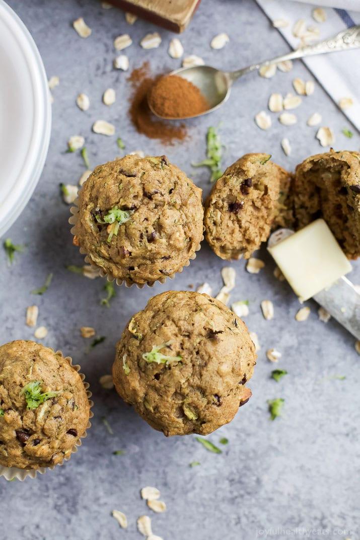 Healthy Zucchini Chocolate Chip Muffins  Chocolate Chip Zucchini Muffins