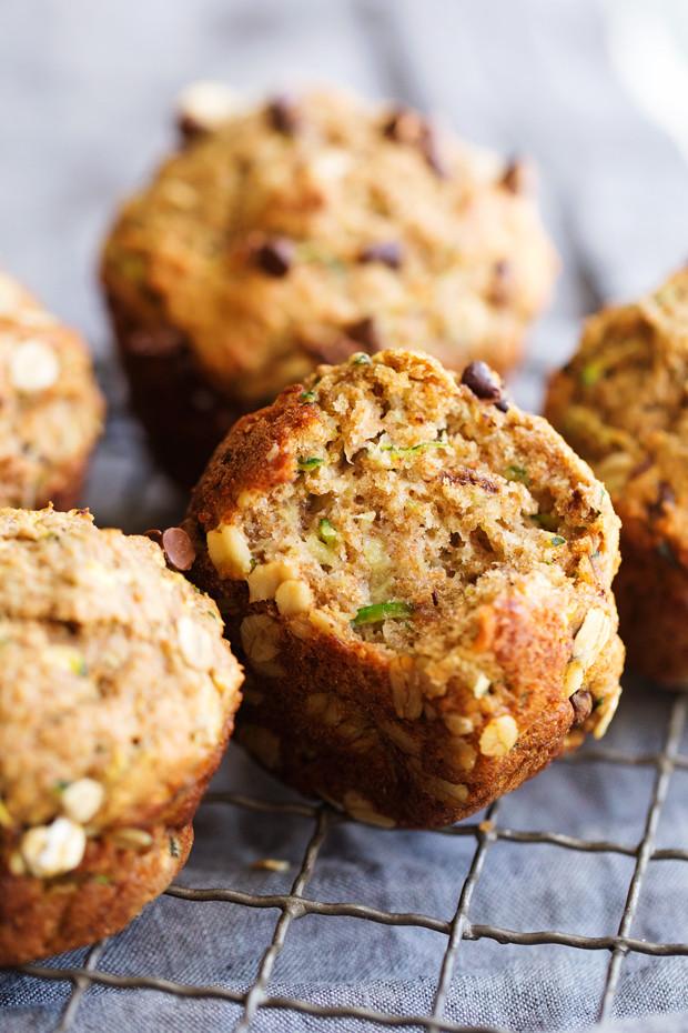 Healthy Zucchini Chocolate Chip Muffins  Healthy Zucchini Muffins with Chocolate Chips