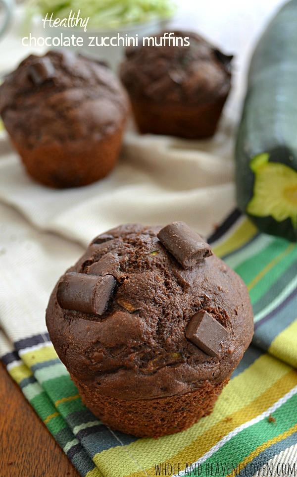 Healthy Zucchini Chocolate Chip Muffins  Healthy Chocolate Zucchini Muffins