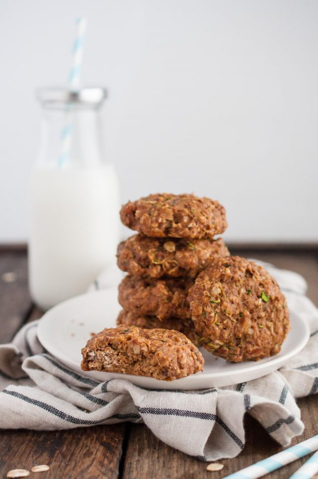 Healthy Zucchini Cookies  Healthy Zucchini Cookies Feasting not Fasting