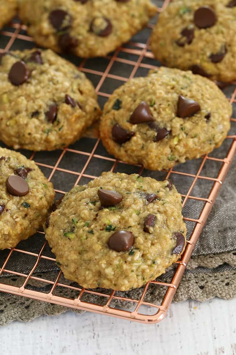 Healthy Zucchini Cookies  Healthy Zucchini Oat and Chocolate Chip Cookies Bake