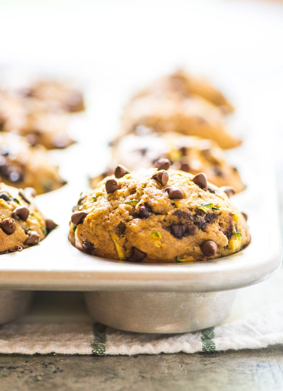 Healthy Zucchini Muffins  Healthy Zucchini Muffins with Chocolate Chips