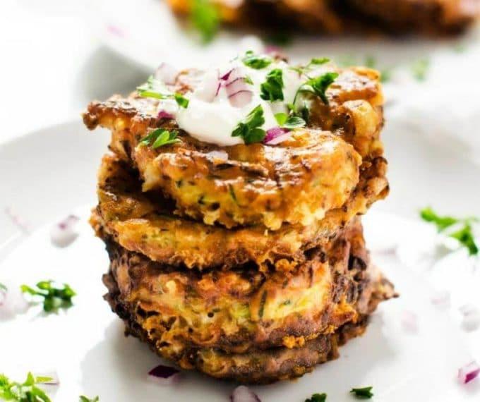 Healthy Zucchini Pancakes  Healthy Zucchini Pancakes Gluten Free Ve arian