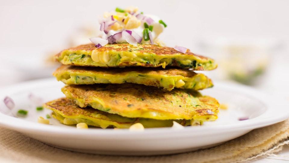 Healthy Zucchini Pancakes  Zucchini Corn Pancakes Healthy AF