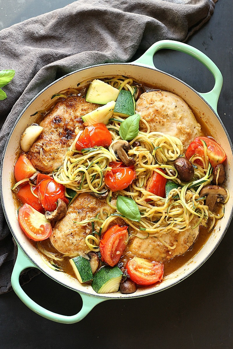 Healthy Zucchini Recipes  Healthy Low Carb Chicken Zucchini Skillet