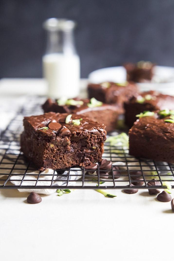 Healthy Zucchini Recipes  Zucchini Chocolate Chip Brownie Recipe