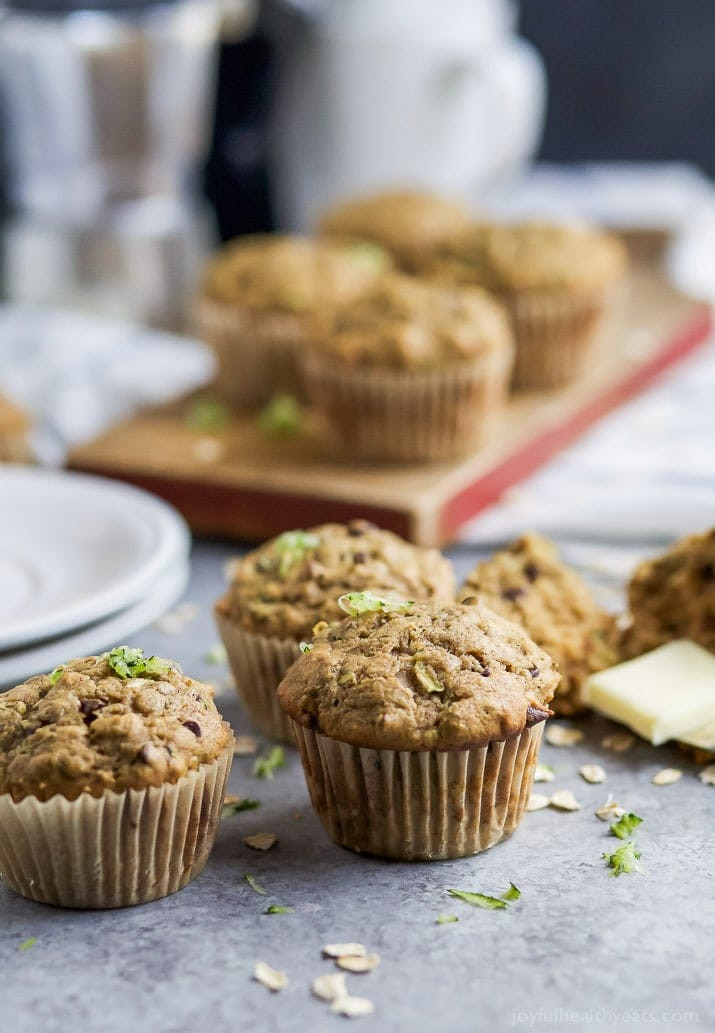 Healthy Zucchini Recipes  Chocolate Chip Zucchini Muffins