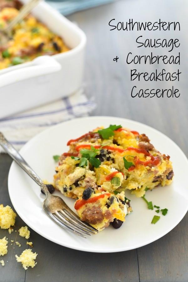 Heart Healthy Breakfast Casserole  Southwestern Sausage & Cornbread Breakfast Casserole