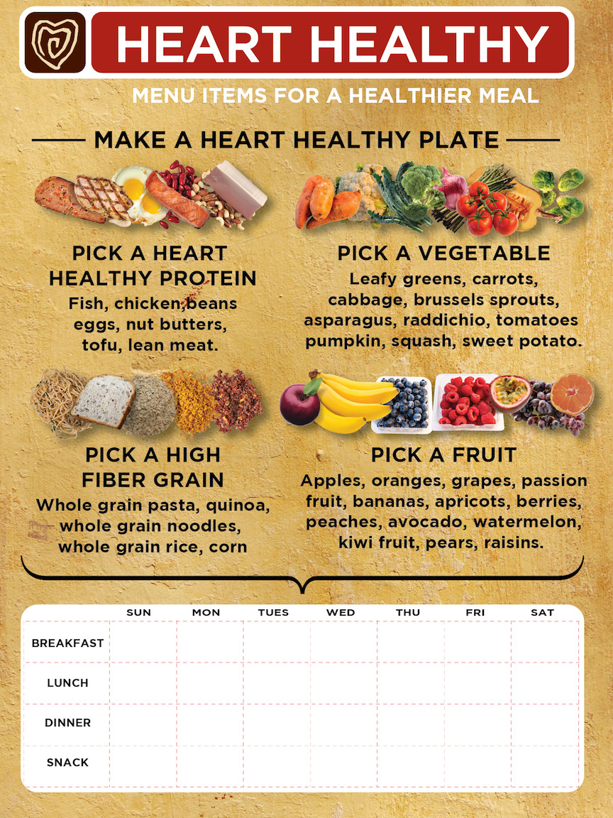 Heart Healthy Breakfast Menu  Weekly Menu Planner – Food and Health munications