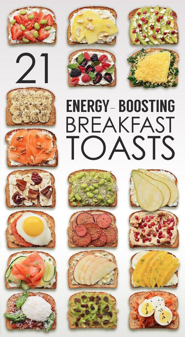 Heart Healthy Breakfast Menu  21 ideas de tostadas para el desayuno infografa