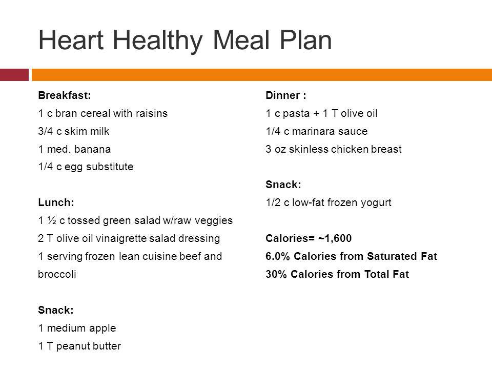 Heart Healthy Breakfast Menu  Module 4 Carbohydrates & Fats ppt video online