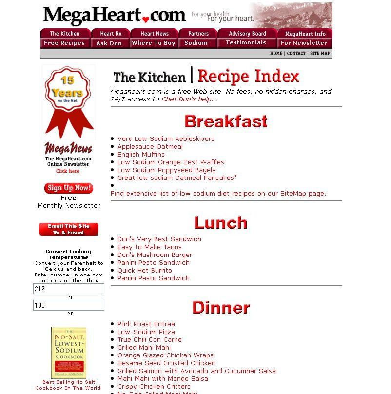 Heart Healthy Breakfast Menu  Best Low Sodium Recipe Sites High Five Sites