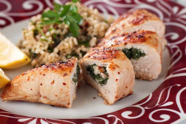 Heart Healthy Chicken Breast Recipes  Heart Healthy Spinach And Mushroom Stuffed Chicken