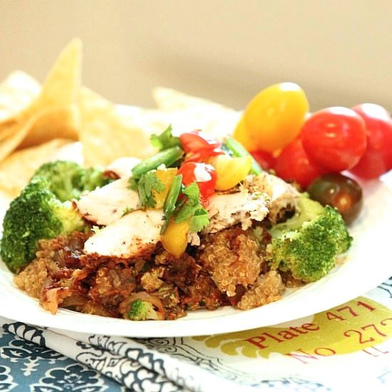 Heart Healthy Chicken Casseroles  Quinoa Salad with Edamame and Broccoli Sprouts Food Done