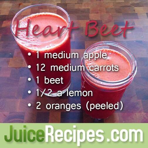 Heart Healthy Juice Recipes  Heart Beet Recipe