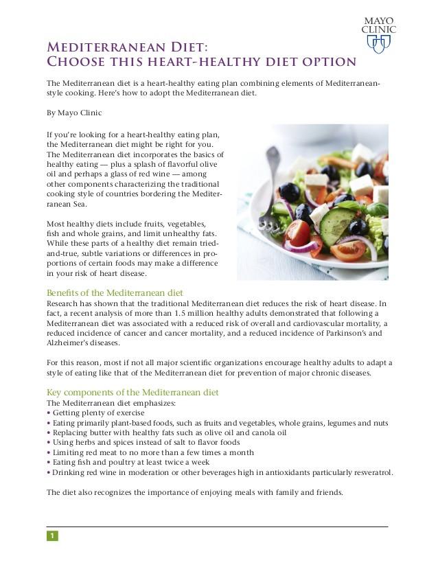 Heart Healthy Mediterranean Diet  Mediterranean Heart Healthy Diet covenews
