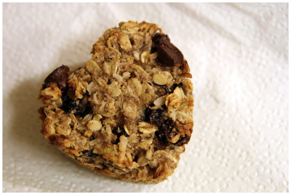 Heart Healthy Oatmeal Raisin Cookies  Heart Shaped Oatmeal Raisin Cookies with a Chocolate