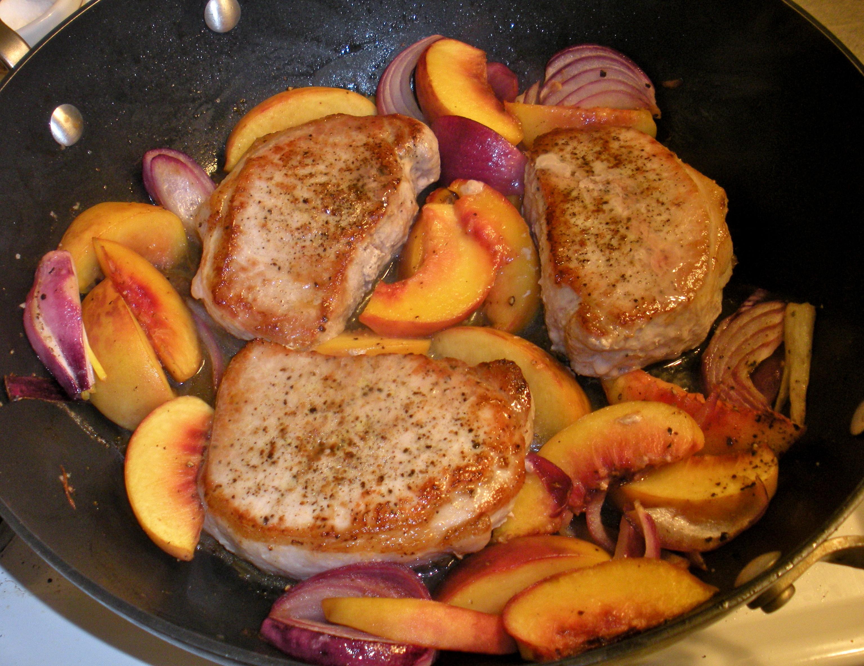 Heart Healthy Pork Chop Recipes  Roasted Pork Chops & Peaches