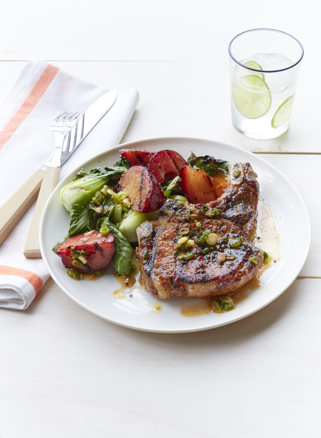 Heart Healthy Pork Chops  Best Grilled Pork Chops with Plum and Bok Choy How to