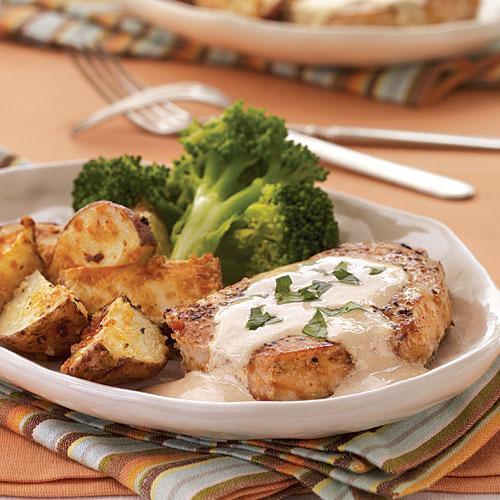 Heart Healthy Pork Chops  Pork Chops with Mustard Cream Sauce Heart Healthy