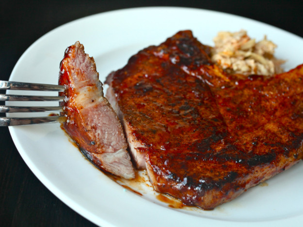 Heart Healthy Pork Chops  Sous Vide 101 Spicy Rubbed Pork Chops with BBQ Sauce