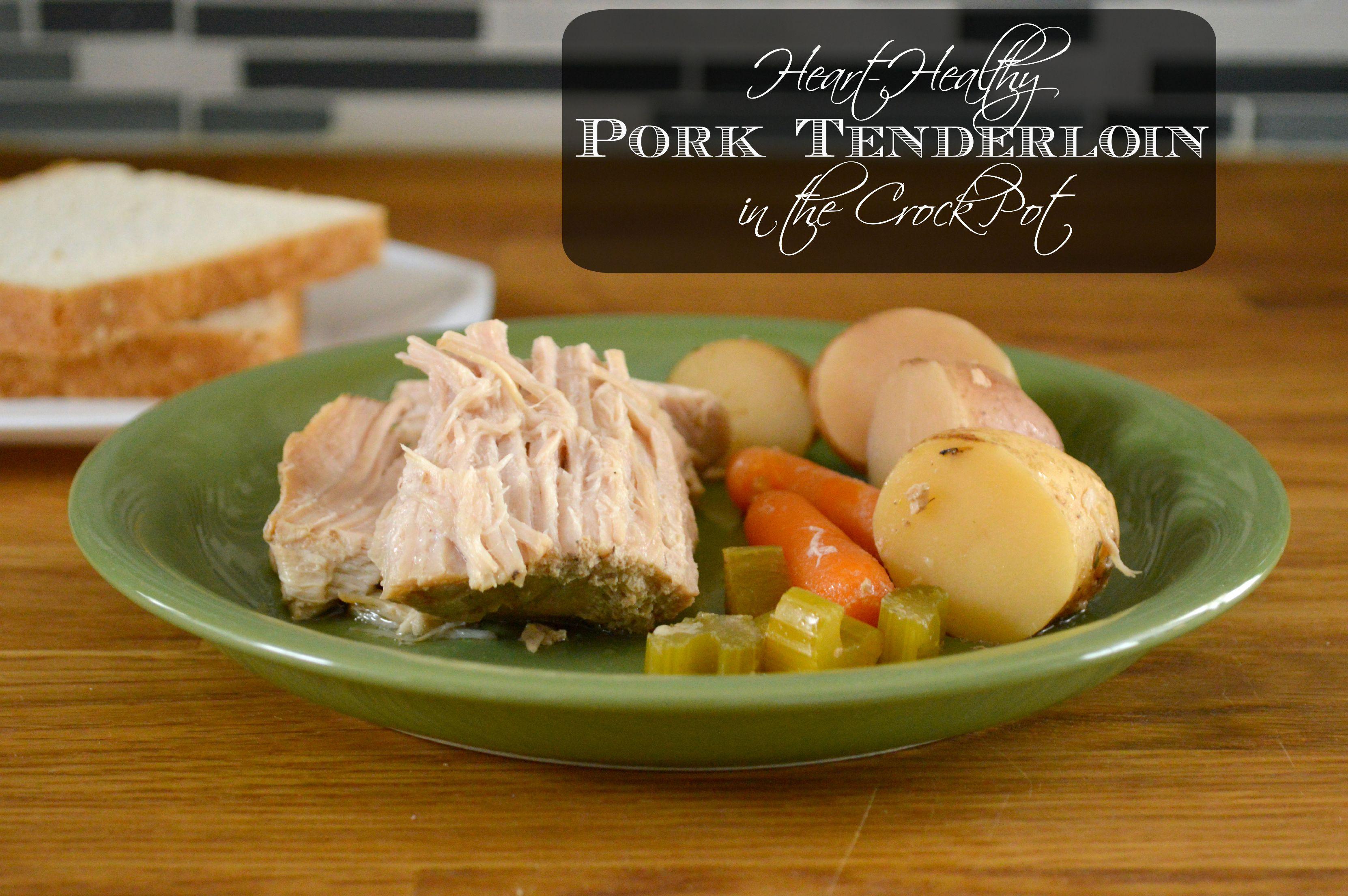 Heart Healthy Pork Recipes  Heart Healthy Crock Pot Pork Tenderloin SoFabFood
