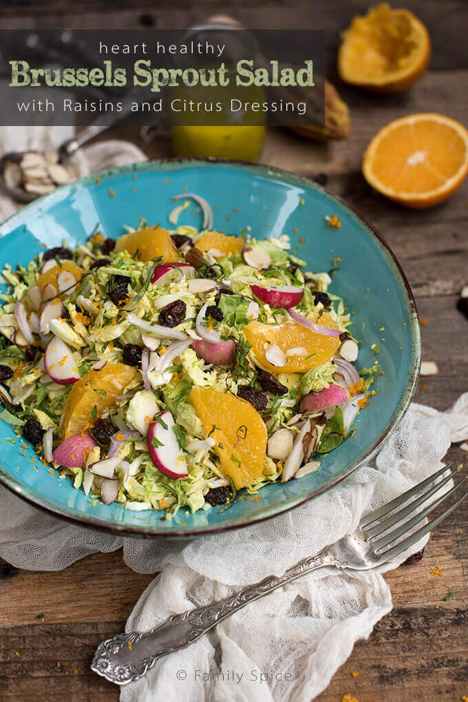 Heart Healthy Salad Dressing Recipes  Heart Healthy Brussels Sprout Salad with Raisins and