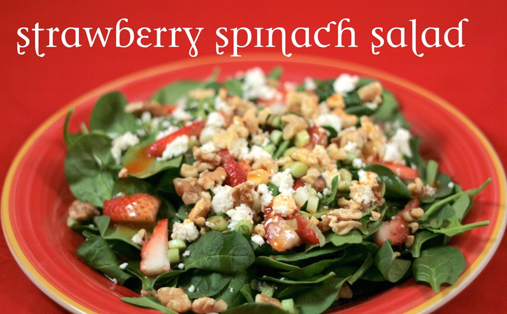 Heart Healthy Salad Dressings  Strawberry Spinach Salad