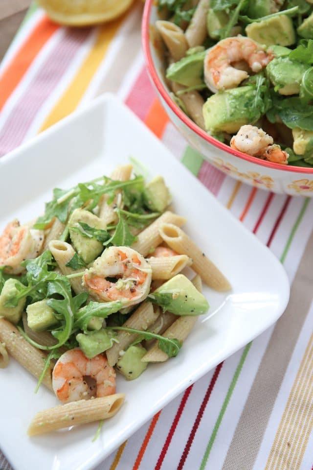 Heart Healthy Shrimp Recipes  Shrimp and Avocado Pasta Aggie s Kitchen