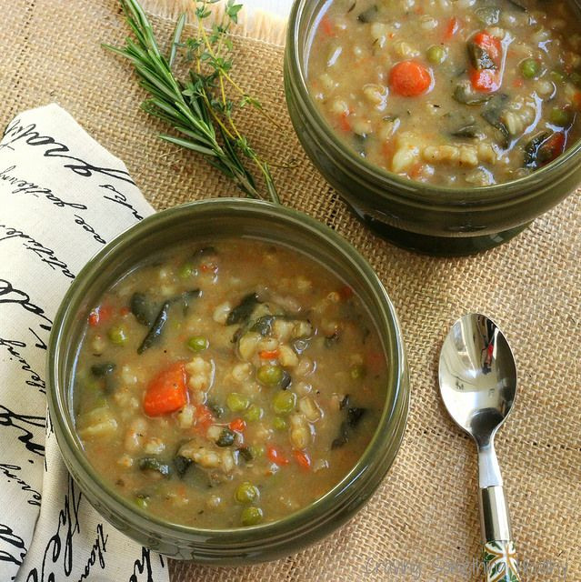 Heart Healthy Soup Recipes  Bean and Barley Ve able Soup Recipe