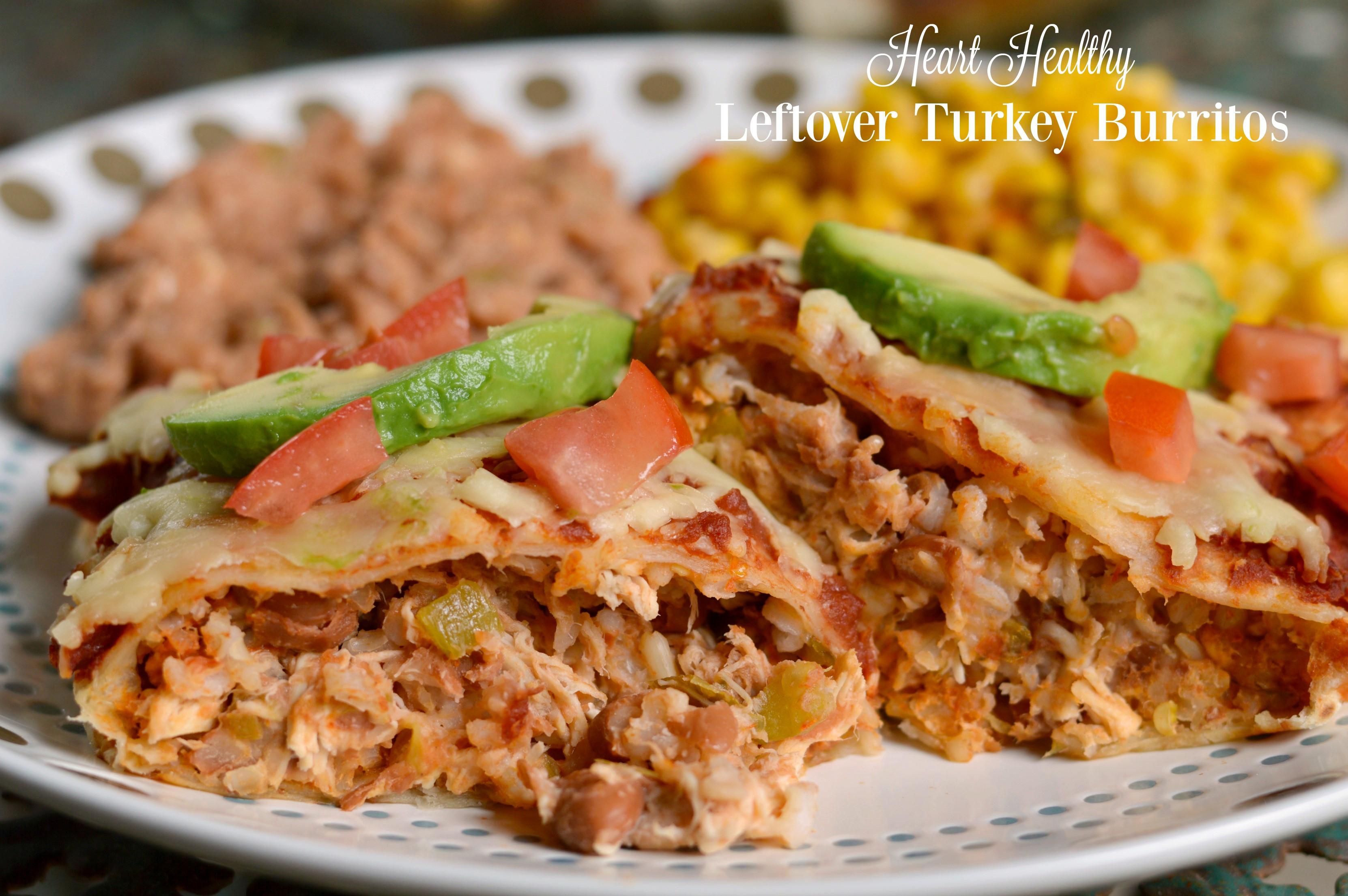 Heart Healthy Thanksgiving Recipes  Heart Healthy Leftover Turkey Burritos Recipe SoFabFood
