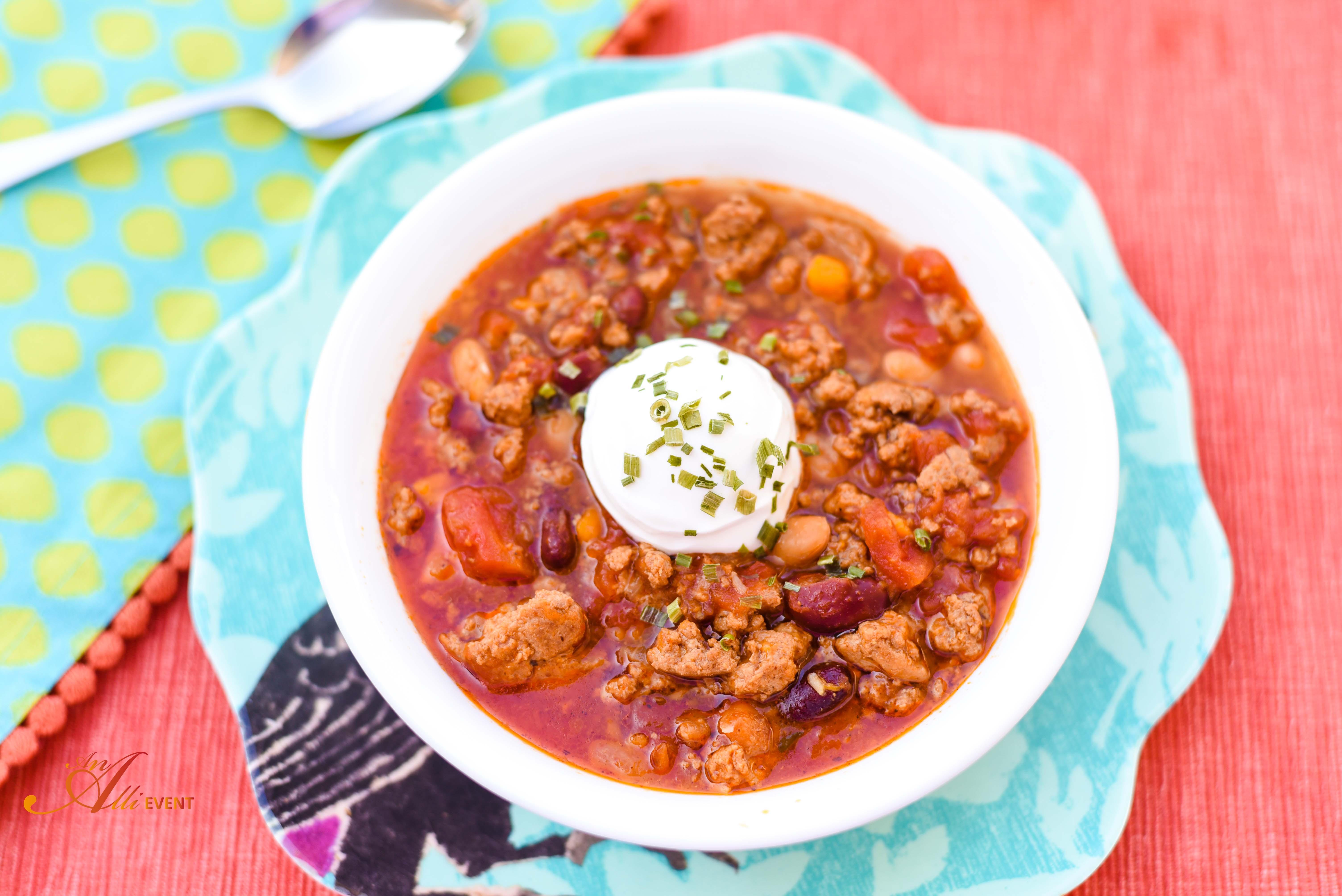 Heart Healthy Turkey Chili  My Heart Story and Heart Healthy Turkey Chili An Alli Event
