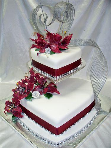 "Heart Shape Wedding Cakes  Heart Shaped ""Lovely"" Cakes for Wedding Reception"